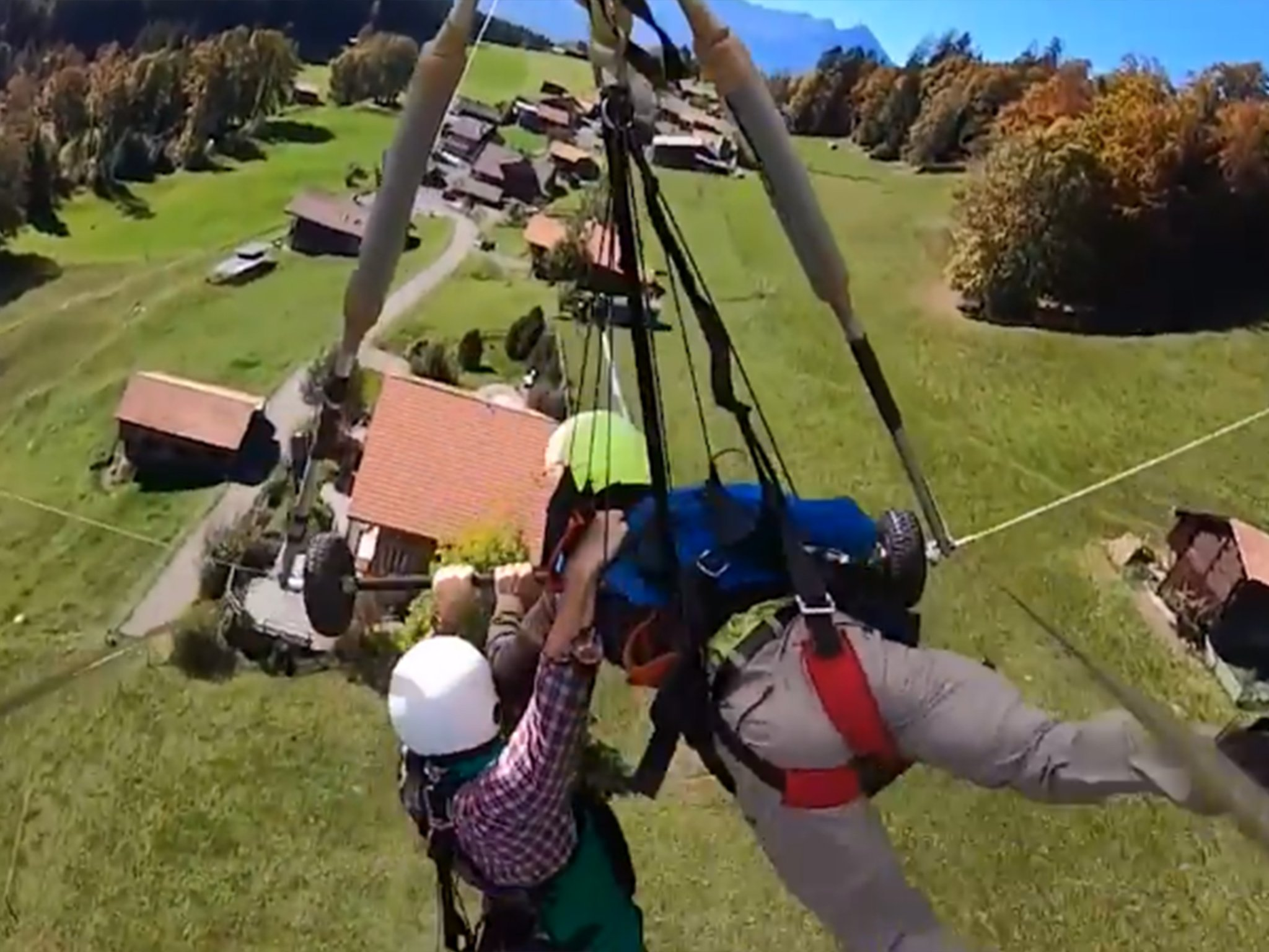 WATCH:  This is NUTS! This dude hangs on for dear life after realizing he wasn't strapped in (He's fine)