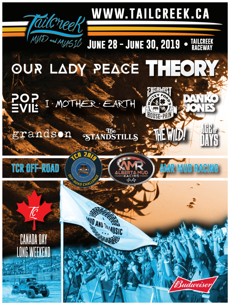 Tailcreek Mud & Music Festival | Z 98 9 Red Deer's Classic Rock