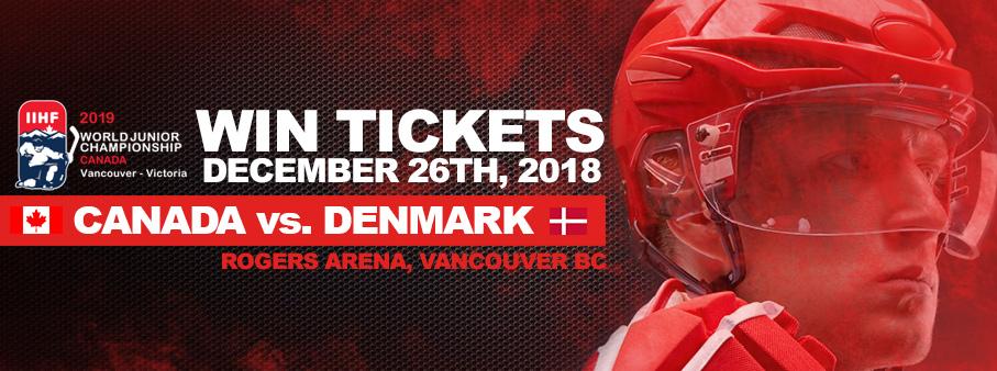 Win Tickets To The World Junior Hockey Championships!
