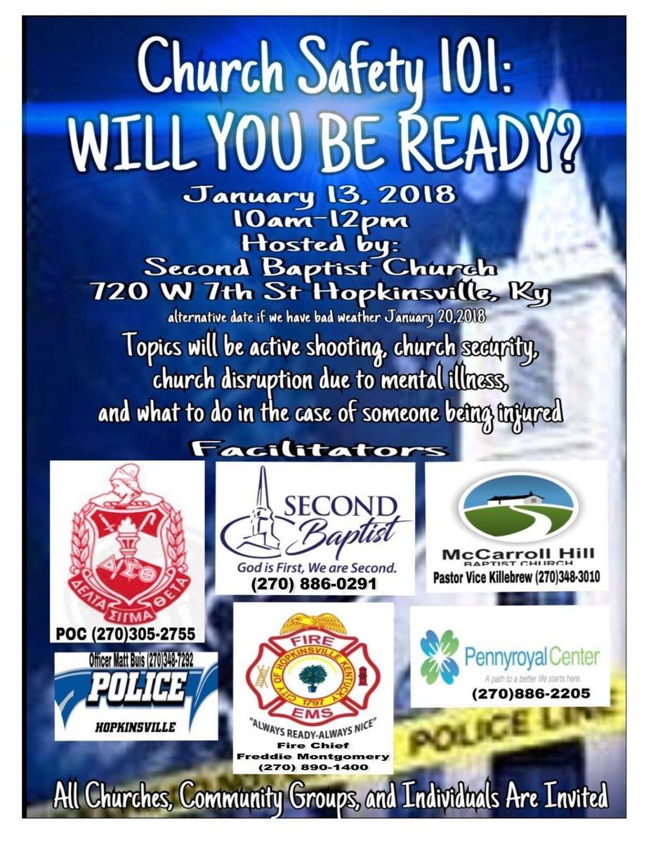 HPD Church Safety training Saturday