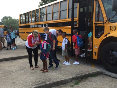 Be alert for buses, children as new school year begins