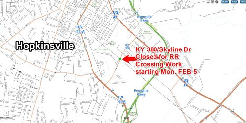 CSX to close Skyline at RR crossing five days next week