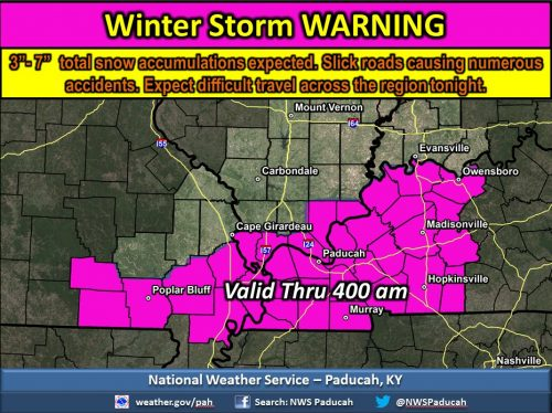 Advisory upgraded to Winter Storm Warning