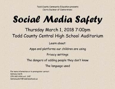Todd Co. schools to host social media safety session