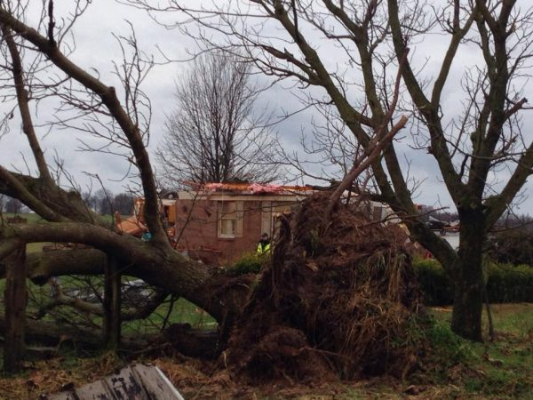 One killed in Logan Co. tornado, drowning in Simpson Co.