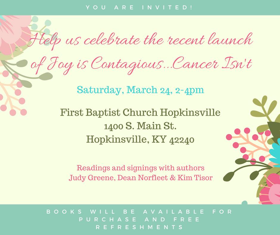 Hopkinsville native, cancer survivor to host book signing