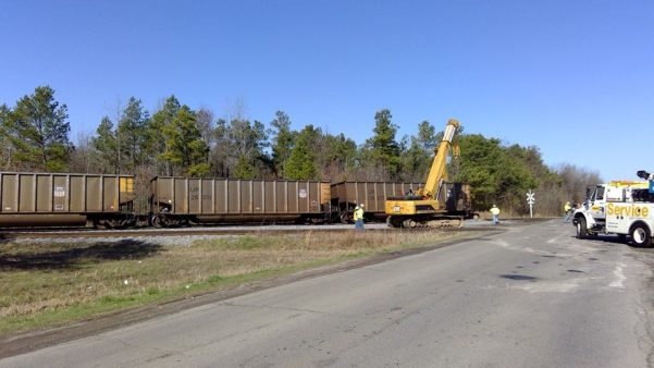 Coal train derails in Marshall County