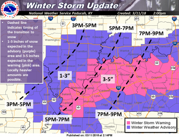 Winter Weather Advisory through 4 a.m. Monday