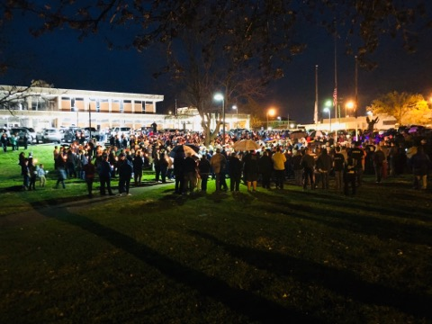 Community turns out to remember Officer Meacham at vigil