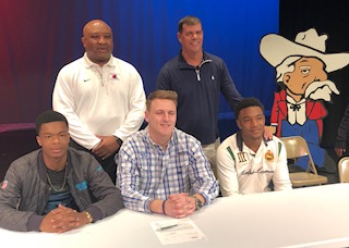 County's Langhi, Long & Stubbs sign collegiate letters