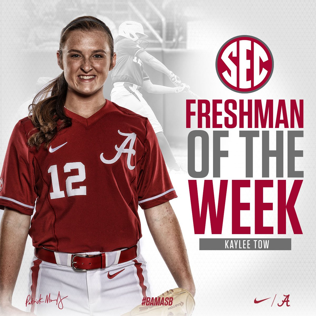 Madisonville's Tow named SEC Softball Freshman of the Week