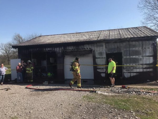 Fire damages building in Todd County