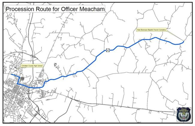 HPD announces Officer Meacham funeral procession route