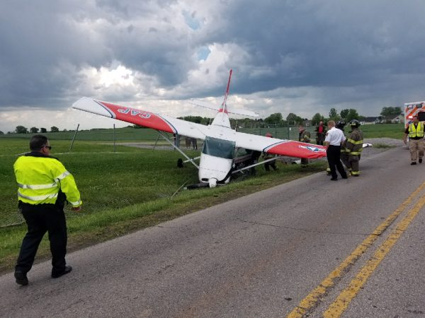 Crash landing at Clarksville airport, weather may have been factor