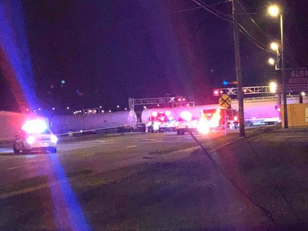 Pedestrian fatally struck by train near Skyline Drive crossing