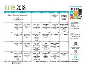 Hopkinsville Public Library June Schedule