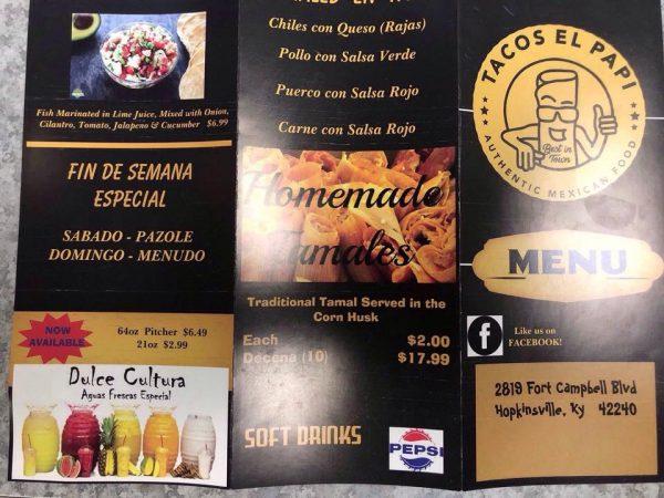 Tacos el papi coming to Hopkinsville