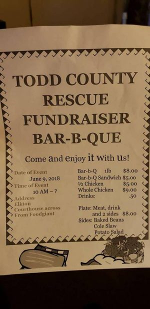 Todd Co. Rescue to host BBQ fundraiser