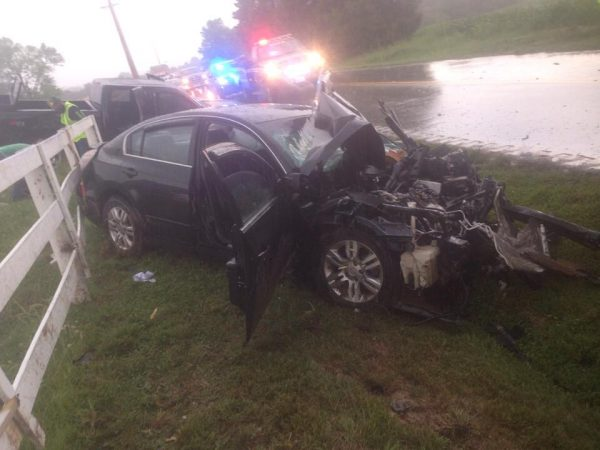 Three hurt in Todd County crash