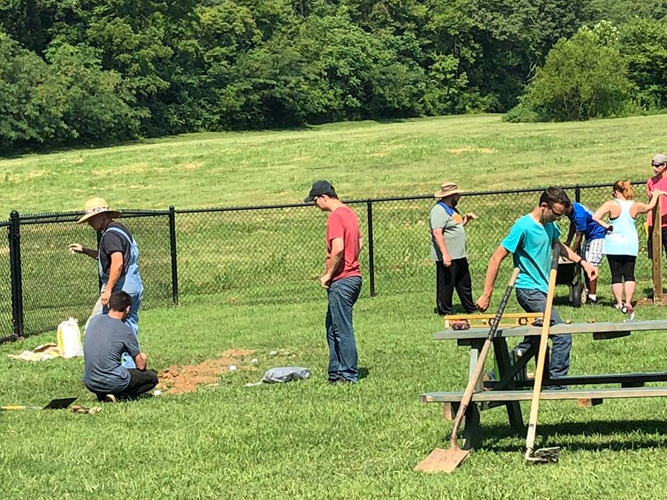 CCHS JROTC builds additions at the dog park