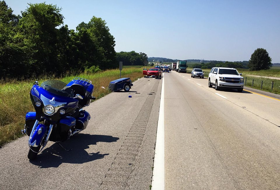 Motorcyclist injured in I-24 five vehicle crash