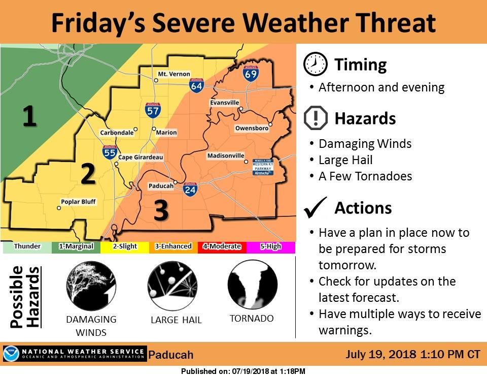 Severe weather possible Friday afternoon, evening