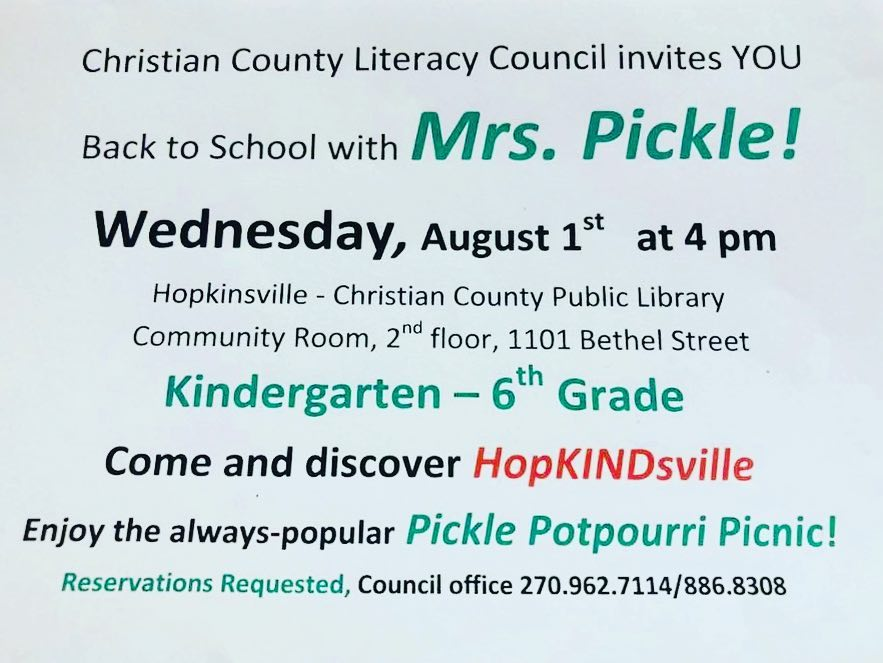 'Mrs. Pickle' to help kids prepare for new school year