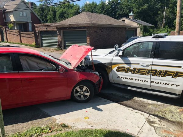 Pursuit ends with collision involving Christian Co. deputy