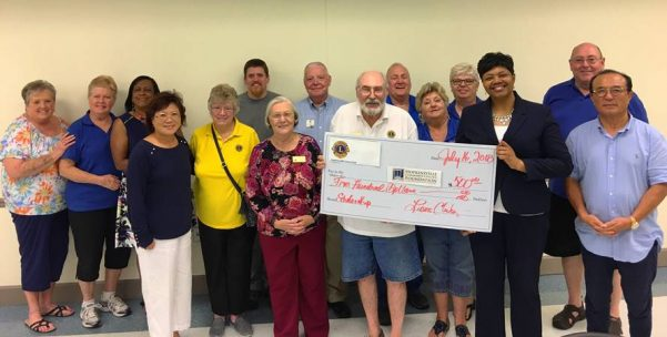 Lions Club gives to HCC textook scholarship fund