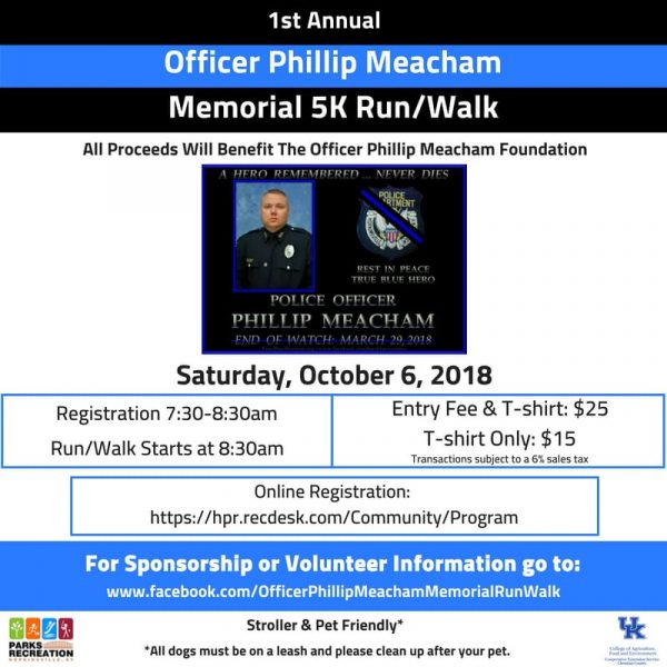 Inaugural Officer Phillip Meacham memorial 5k coming up this fall