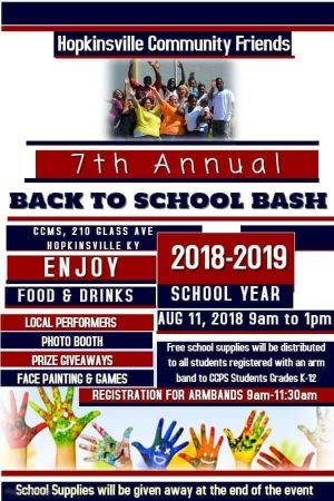 Hopkinsville Community Friends to host 7th annual Back to School Bash