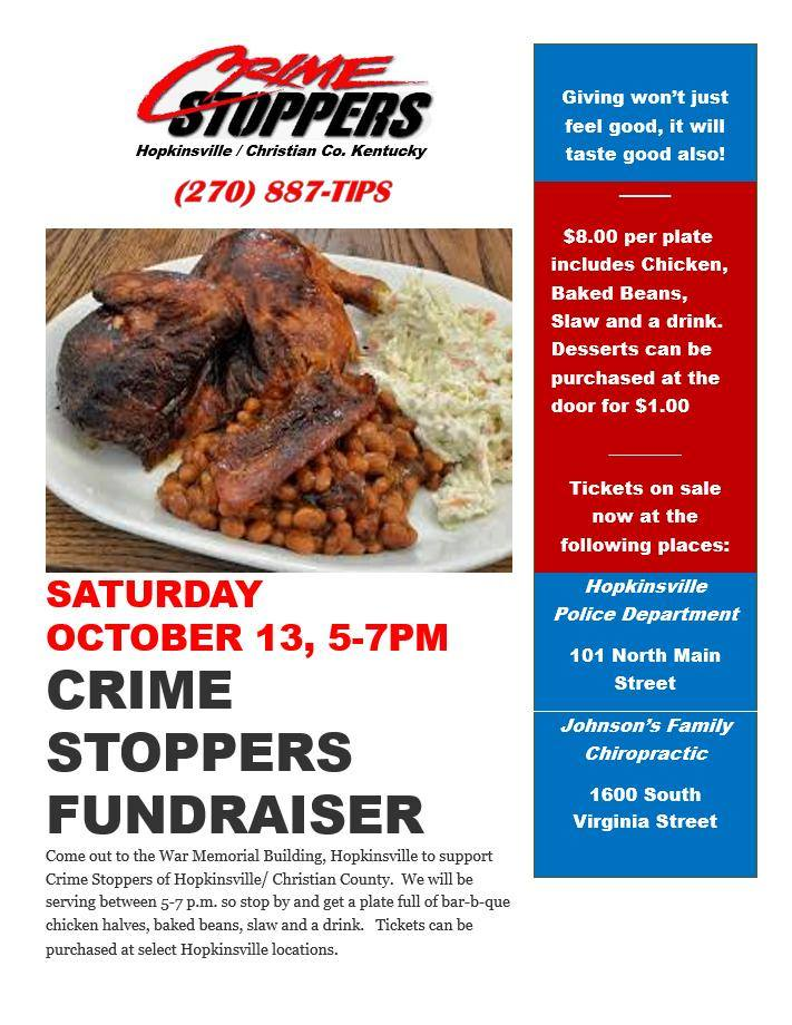 Crime Stoppers putting on BBQ dinner fundraiser