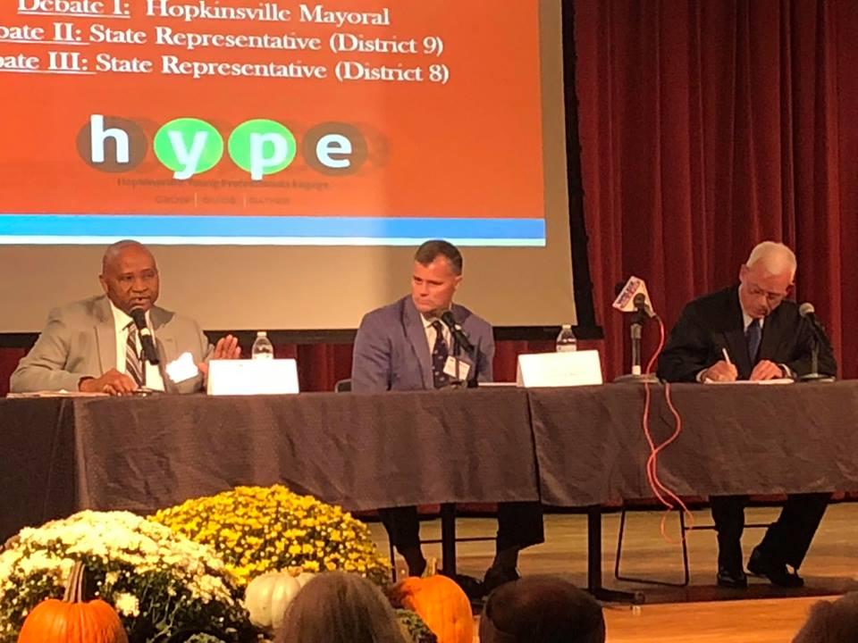Three mayoral candidates meet in debate