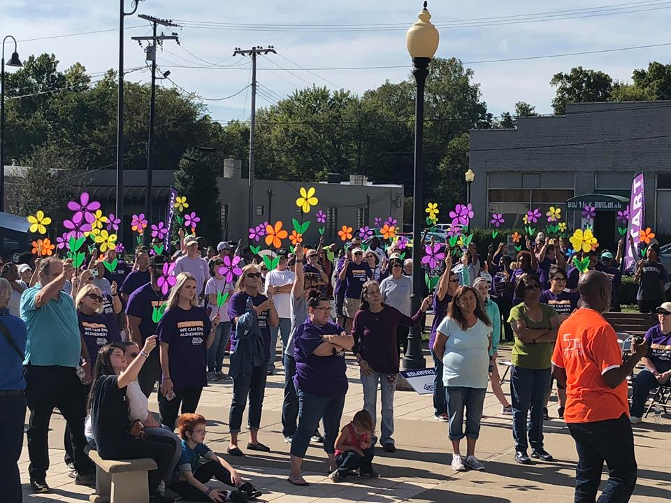 Large crowds walk to end Alzheimer's