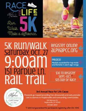 Alpha Pregnancy Care Center Race for Life 5K Run/Walk