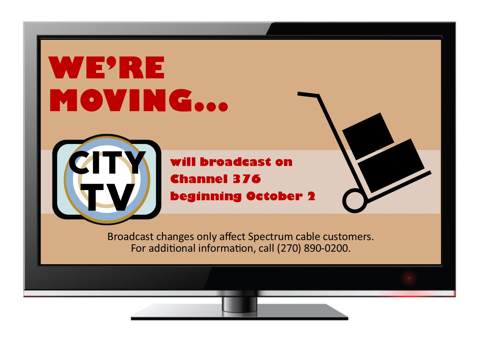 City TV moving channels on Spectrum