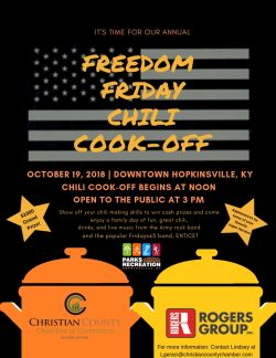 Chamber annual Chili Cook Off is Friday