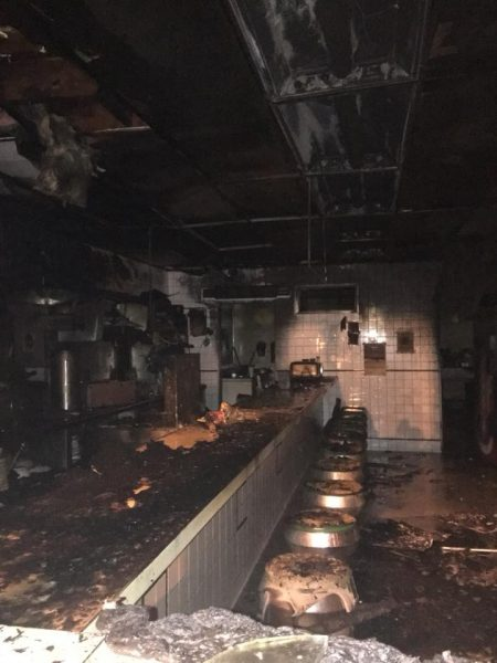Madisonville Ferrell's damaged by fire