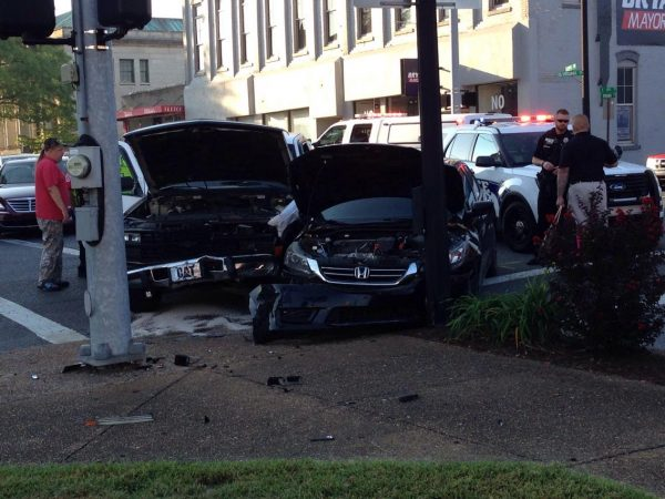 Two injured in accident downtown