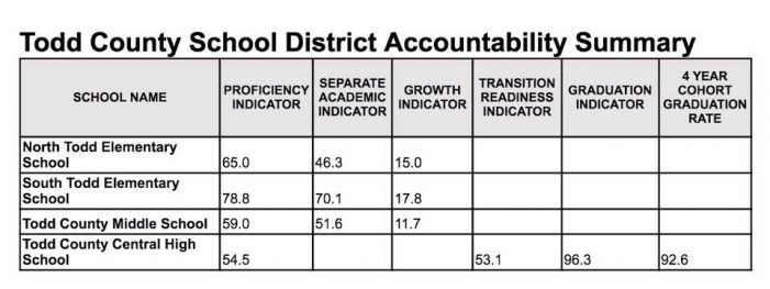 Todd Schools find growth, room for improvement in data