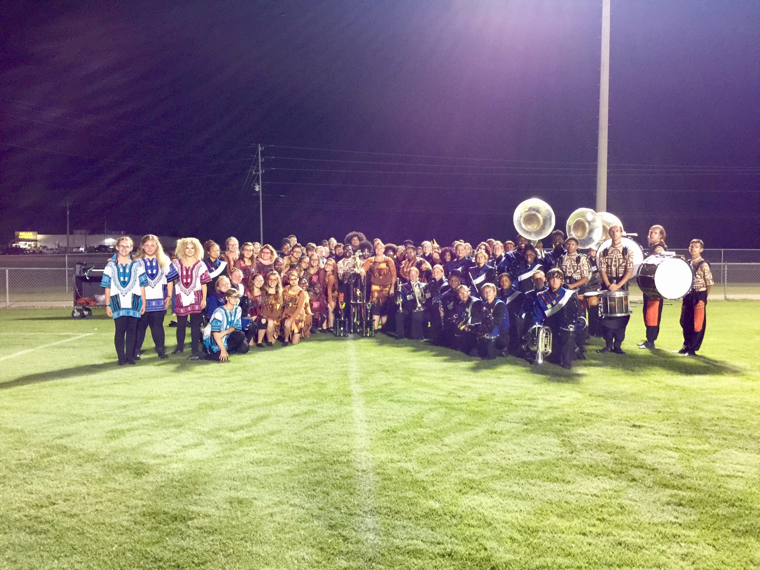 CCHS Colonel Band takes first in competition