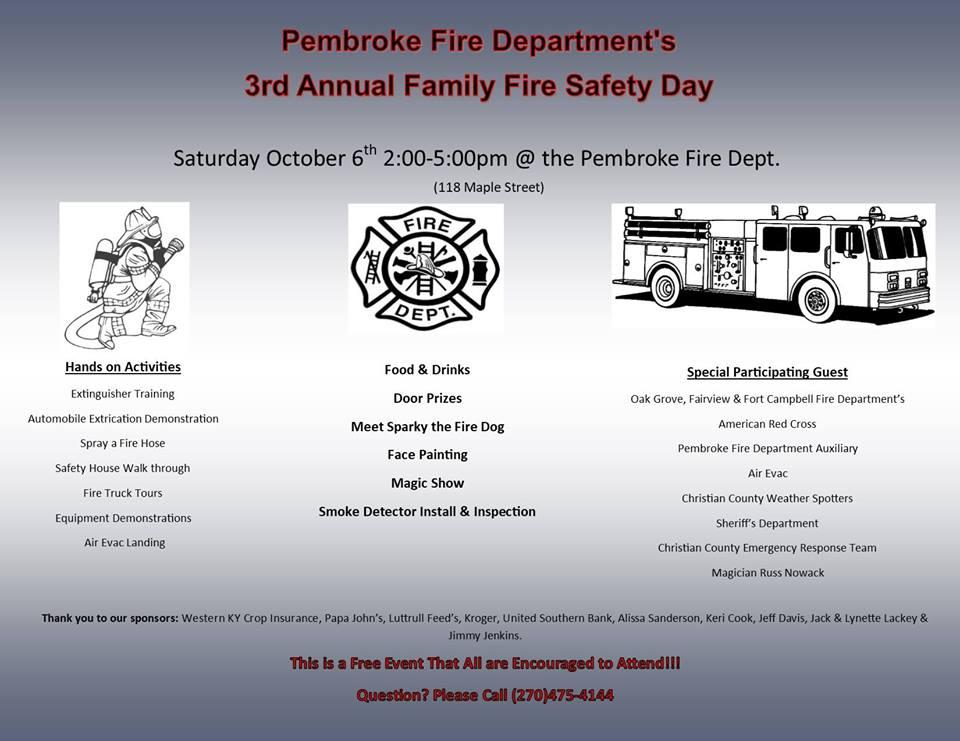 Pembroke Volunteer Fire Department hosting fire safety event