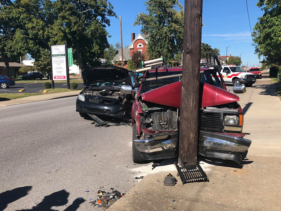 Two injured, one flown to Nashville hospital in South Main Street wreck