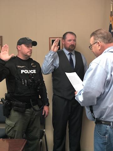 Blumel sworn in as Guthrie PD chief