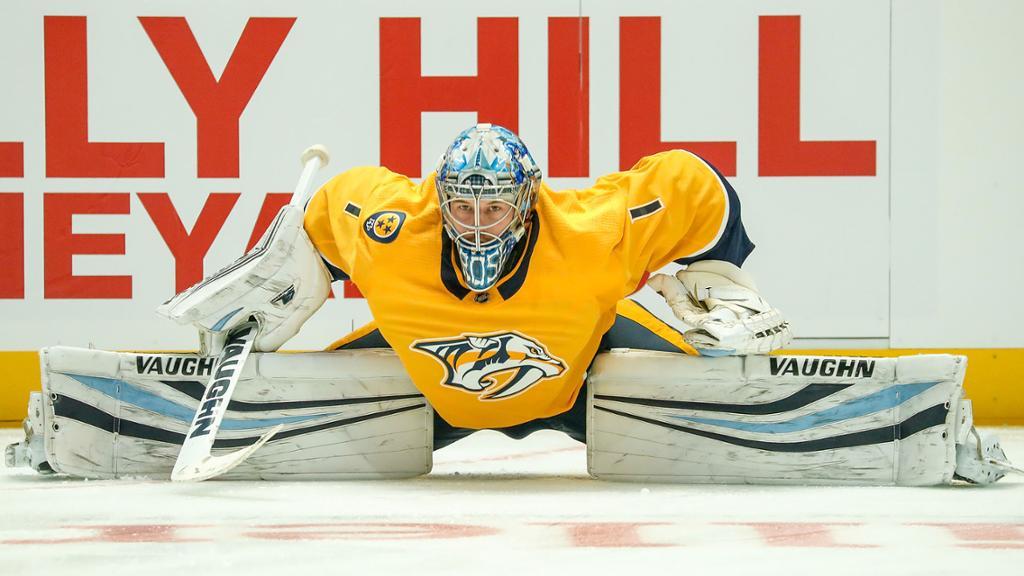 Preds recall goalie Grosenick from Milwaukee