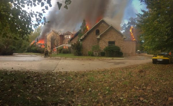Fire destroys home near Linton