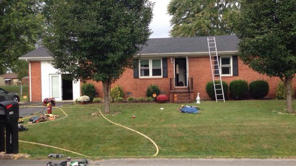 Four displaced by kitchen fire