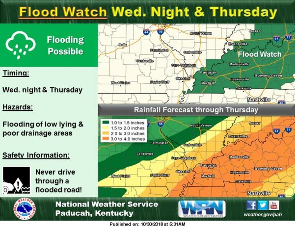 Flood Watch from 7 p.m. Wednesday until 7 p.m. Thursday