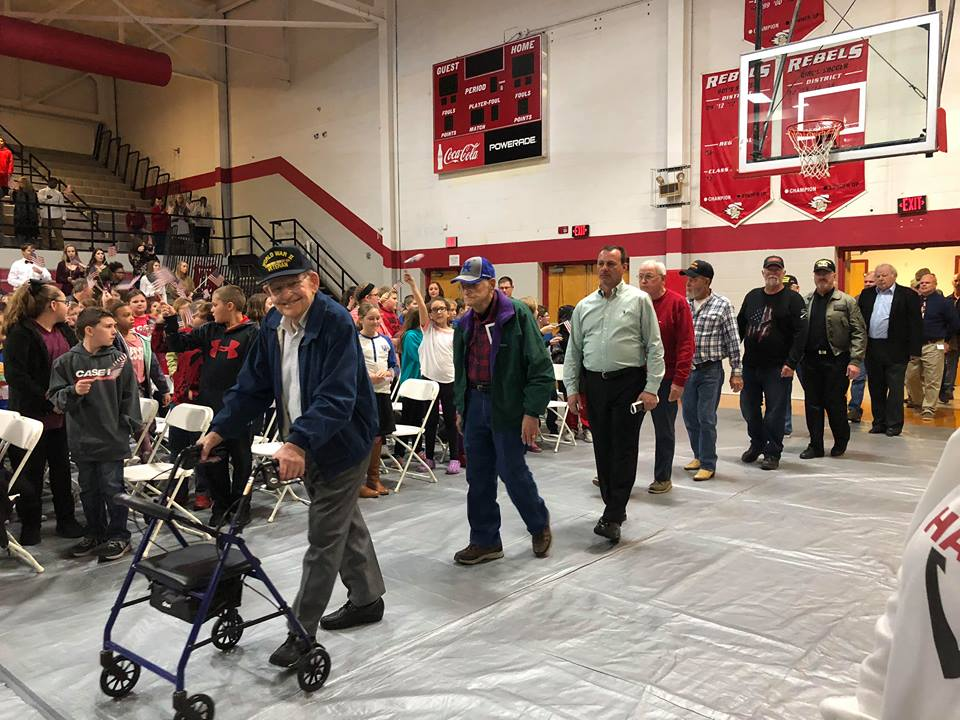 Todd Central High School honors veterans