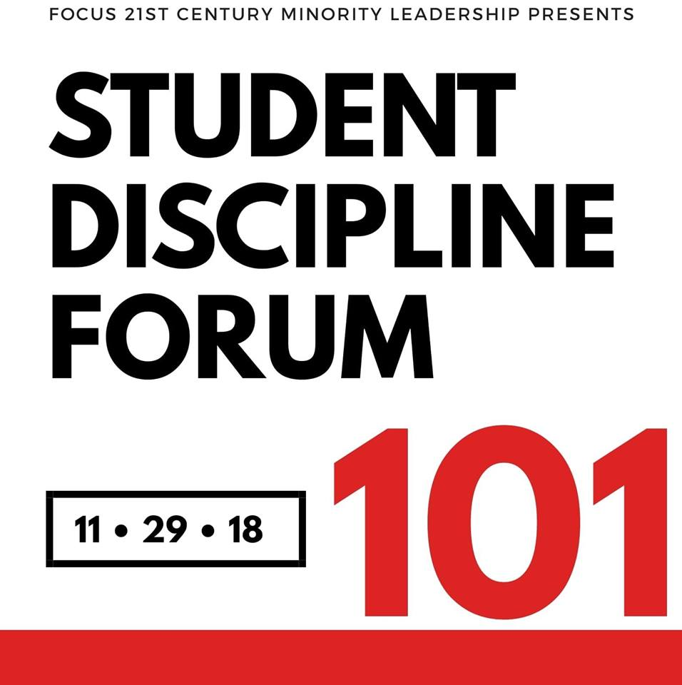 Focus 21st Century hosting student discipline forum